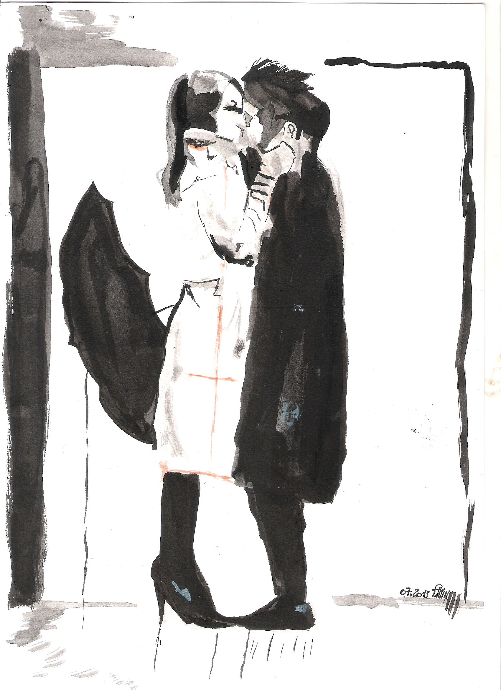 couple dessin